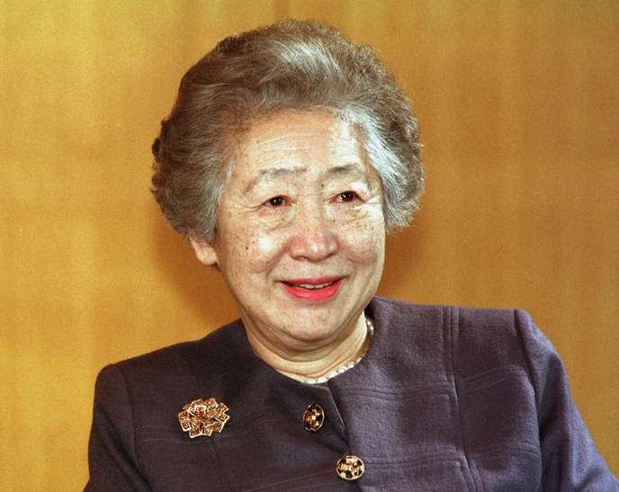 La diplomate japonaise et ancienne haut-commissaire de l'ONU pour les réfugiés, Sadako Ogata, à Bonn (Allemagne), en février 1999.