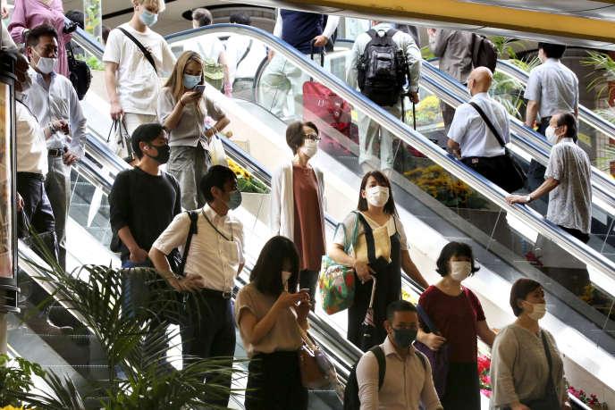 À la gare de Yokohama près de Tokyo, le 22 juillet.