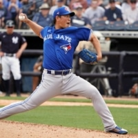 Shun Yamaguchi went 2-4 in 17 relief appearances for the Blue Jays last season. | REUTERS