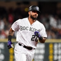 The Rockies' Ian Desmond rounds the bases after a home run against the Cardinals at Coors Field in Denver on Sept. 11, 2019. | USA TODAY / VIA REUTERS