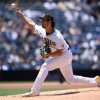 Padres starter Yu Darvish pitches against the Cubs in San Diego on Wednesday. | USA TODAY / VIA REUTERS