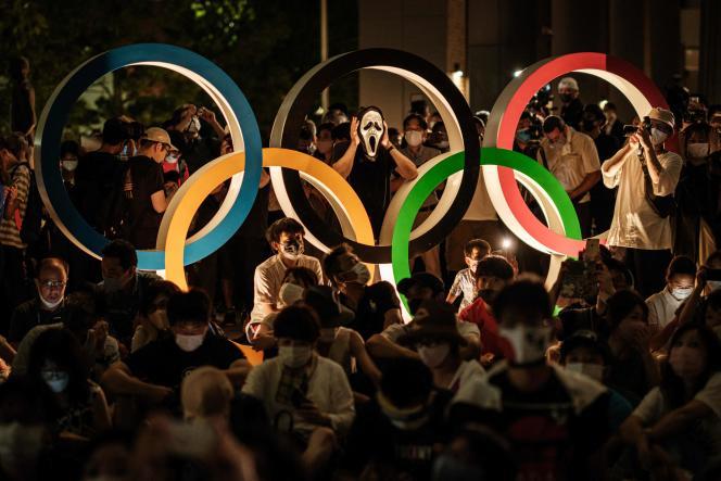 Lors de la cérémonie d'ouverture des Jeux olympiques 2021 à Tokyo, le 23 juillet 2021.